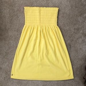 Lilly Pulitzer Yellow Terry Cloth Cover Up Dress S